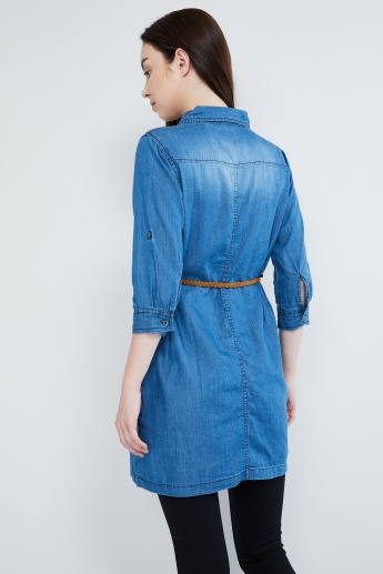 MAX Denim Belted Tunic
