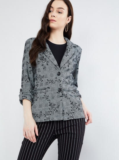 MAX Roll-Up Sleeves Floral Print Jacket thumbnail