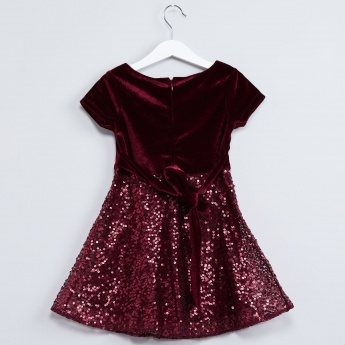 MAX Sequinned A-line Party Dress