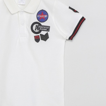 MAX Graphic Applique Polo T-shirt