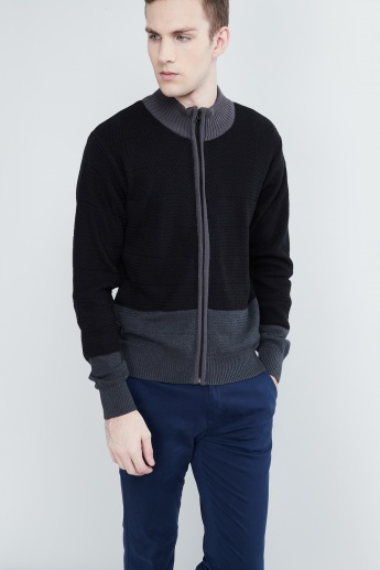 MAX Colourblock Herringbone Sweatshirt
