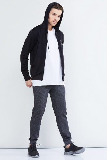 MAX Solid Hooded Zip-Up Sweatshirt