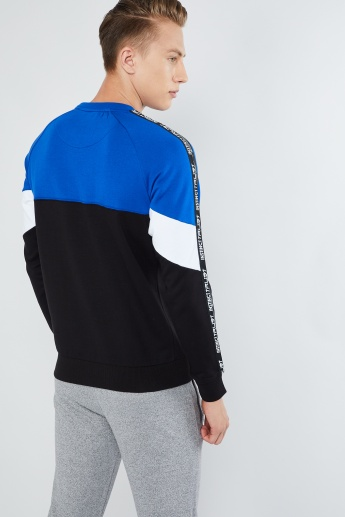 MAX Colourblock Tape Trim Sweatshirt