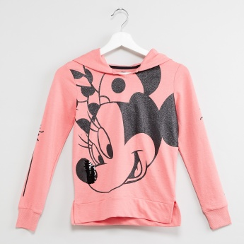 MAX Shimmer Minnie Mouse Print Hooded Sweatshirt