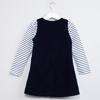 MAX Striped Corduroy Pinafore