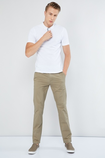 MAX Solid Flat Front Chino Trousers