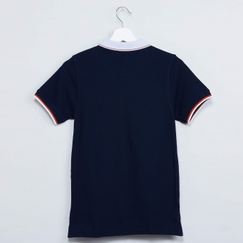 MAX Patchworked Polo Neck T-shirt
