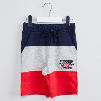 MAX Embroidered Colourblock Shorts