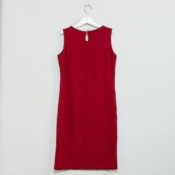 MAX Textured Shimmer Trim Dress
