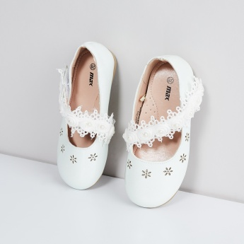 MAX Rosy Ballerinas with Strap Detail