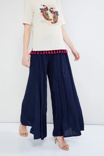 MAX Solid Flared Palazzos
