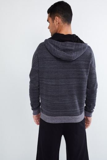 MAX Chevron Textured Zip-up Sweatshirt