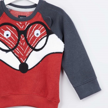 MAX Foxy Embroidered Sweatshirt