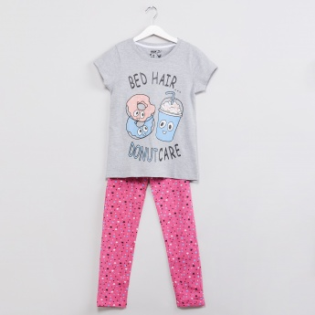 MAX Graphic Print Top and Pyjama Set