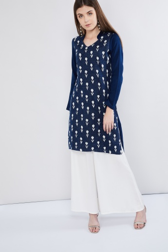 MAX Floral Textured Sweater Kurta
