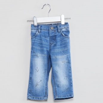 MAX Music Note Stonewashed Jeans