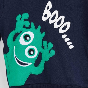 MAX Monster Applique Hooded Sweatshirt