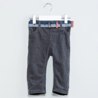 MAX Corduroy Pants with Belt