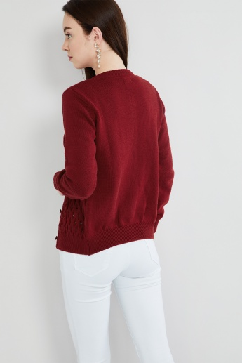MAX Cable Knit Cardigan