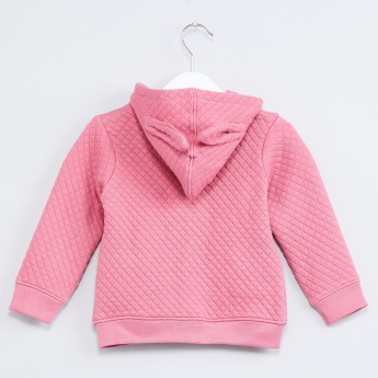 MAX Quilted Bow Hoody Sweatshirt