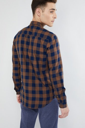 MAX Jacquard Detail Band Collar Shirt
