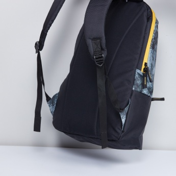 MAX Marble Textured Zip-Closure Backpack