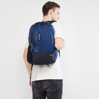 MAX Printed Quilted Zip-Up Backpack