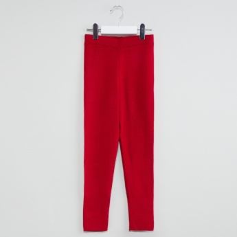 MAX Solid Flat Knitted Trousers