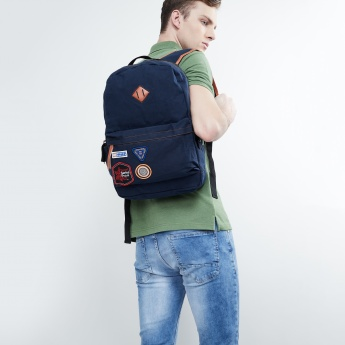 MAX Typographic Applique Backpack