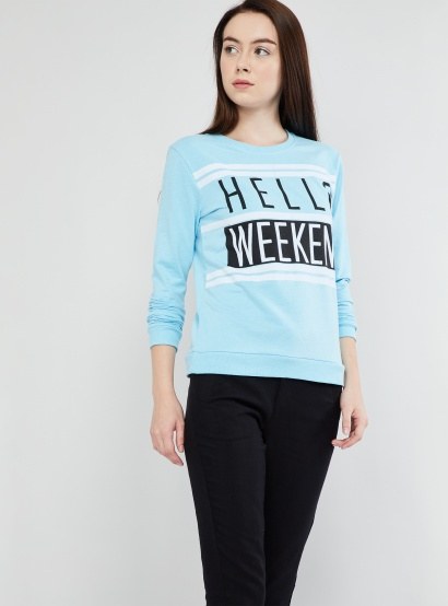 MAX Typography Print Long Sleeve Sweatshirt thumbnail