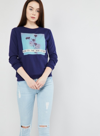 MAX Graphic Print Long Sleeve Sweatshirt thumbnail