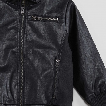 MAX Faux Leather Biker Jacket