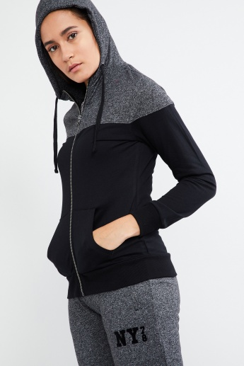 MAX Colourblocked Zip-Up Hooded Jacket