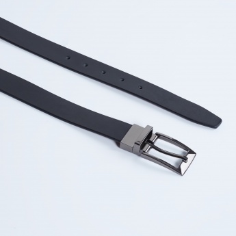 MAX Reversible Genuine Leather Textured Belt