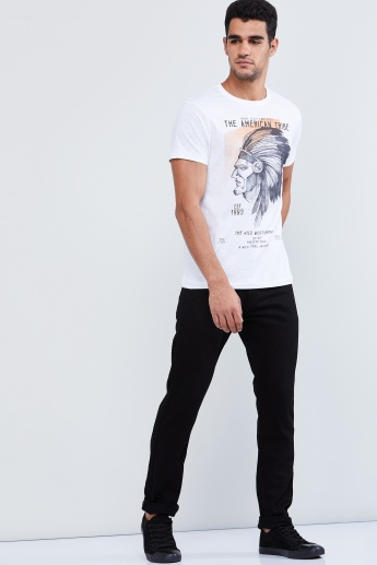 MAX Graphic Print Crew-Neck T-shirt