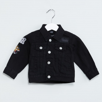 MAX Retro Applique Denim Jacket
