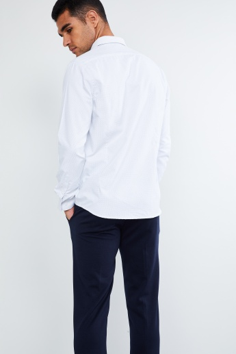 MAX Polka Textured Full Sleeves Shirt