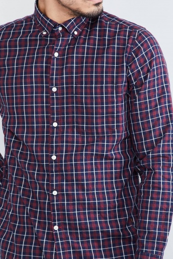 MAX Checked Button-Down Collar Casual Shirt