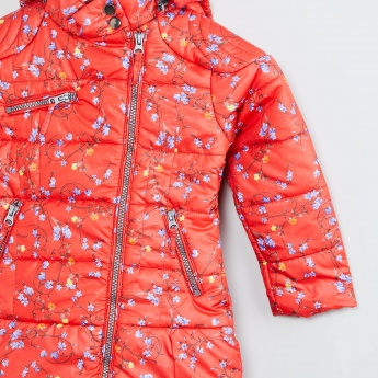 MAX Floral Print Quilted Jacket