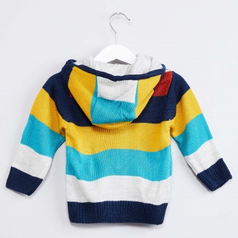 MAX Striped Hooded Sweater
