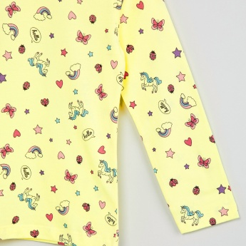 MAX Doodle Print Full Sleeve Top