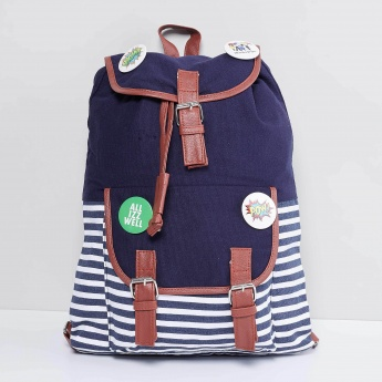 MAX Striped Denim Backpack