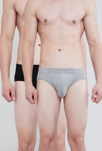 MAX Solid Hipster Briefs - Pack of 2 Pcs.