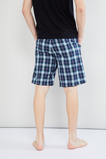 MAX Checked Woven Lounge Shorts