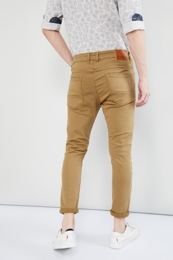 MAX Solid Low-Rise Slim Fit Chinos