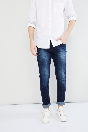 MAX Lightly Washed Speckled Jeans