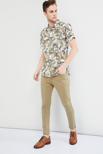 MAX Tropical Print Short Sleeve Shirt