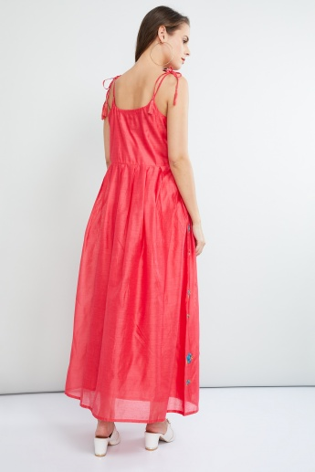 MAX Embroidered Strappy Maxi Dress