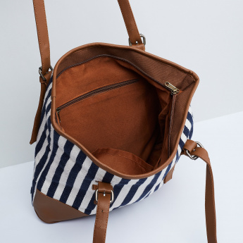 MAX Striped Tote Bag