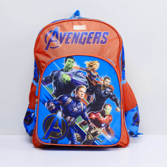 MAX Avengers Print Zip Closure Backpack
